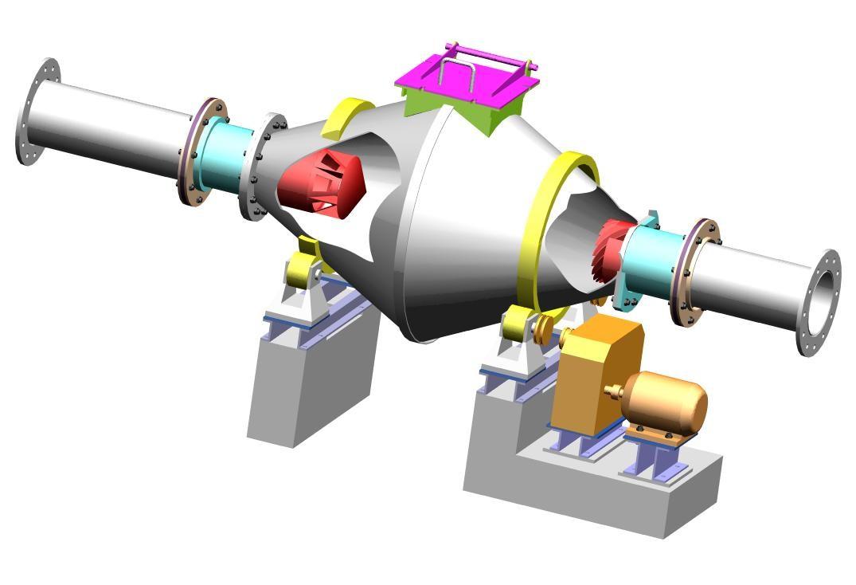 Печи ротационного типа для термообработки полидисперсных материалов